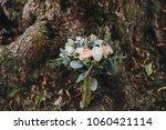wedding bouquet of flowers and... | Shutterstock . vector #1060421114