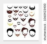 hair beard mustache color... | Shutterstock .eps vector #1060423400