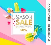 summer sale layout design... | Shutterstock .eps vector #1060425770