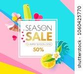 summer sale layout design... | Shutterstock .eps vector #1060425770
