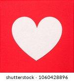 love concept. white heart shape ... | Shutterstock . vector #1060428896