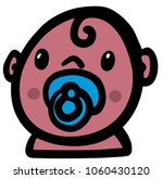 baby with pacifier | Shutterstock .eps vector #1060430120