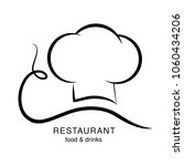 vector cooking hat with a...   Shutterstock .eps vector #1060434206