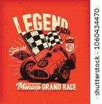 vintage car race. tee print...   Shutterstock .eps vector #1060434470