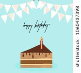 happy birthday card with... | Shutterstock .eps vector #1060437398