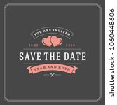wedding save the date... | Shutterstock .eps vector #1060448606