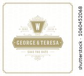 wedding save the date... | Shutterstock .eps vector #1060452068