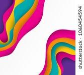 paper art 3d abstract... | Shutterstock .eps vector #1060454594