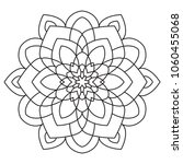 abstract coloring easy mandala... | Shutterstock .eps vector #1060455068