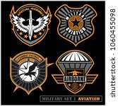 set of military and army badge...   Shutterstock .eps vector #1060455098