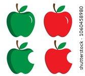 symbol icon apple food fruit... | Shutterstock .eps vector #1060458980