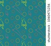 seamless pattern parakeet  | Shutterstock .eps vector #1060471256