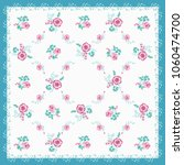 scarf floral print. russian... | Shutterstock . vector #1060474700