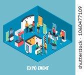 expo event concept vector flat... | Shutterstock .eps vector #1060477109