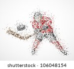 abstract hockey player  shoots... | Shutterstock .eps vector #106048154
