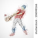 abstract baseball player  kick... | Shutterstock .eps vector #106048166