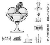 restaurant and bar monochrome... | Shutterstock .eps vector #1060484348