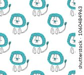 seamless pattern with cute... | Shutterstock .eps vector #1060484963