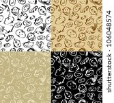 background with a doodle faces | Shutterstock .eps vector #106048574
