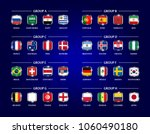 football or soccer cup 2018... | Shutterstock .eps vector #1060490180
