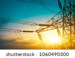 high voltage post or high... | Shutterstock . vector #1060490300