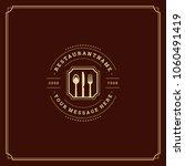 restaurant logo template vector ... | Shutterstock .eps vector #1060491419