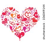 big heart made of many... | Shutterstock .eps vector #106049144