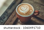 hot latte coffee with heart... | Shutterstock . vector #1060491710