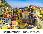 colorful houses in manarola... | Shutterstock . vector #1060494026