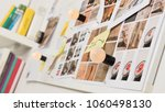 whiteboard with photographs ... | Shutterstock . vector #1060498130