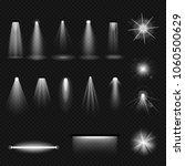 set of light sources  lighting  ... | Shutterstock .eps vector #1060500629