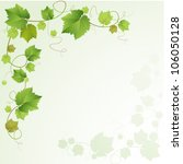 grapes vine background | Shutterstock .eps vector #106050128