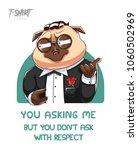 pug life. print on t shirts ...   Shutterstock .eps vector #1060502969