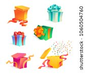 vector cartoon present gift box ... | Shutterstock .eps vector #1060504760