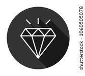 diamond vector icon  gemstone... | Shutterstock .eps vector #1060505078