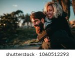 cool indie couple having fun... | Shutterstock . vector #1060512293