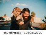 cool indie couple having fun... | Shutterstock . vector #1060512320