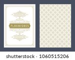vintage ornament greeting card... | Shutterstock .eps vector #1060515206