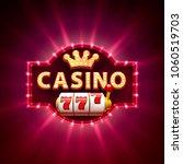 casino 777 slots banner text ...   Shutterstock .eps vector #1060519703