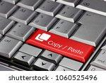 keyboard key red   copy   paste | Shutterstock . vector #1060525496