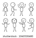 person set of gestures  stick... | Shutterstock .eps vector #1060530680