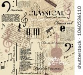 classical music lpattern with... | Shutterstock .eps vector #1060536110