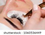 eyelash extensions in the...   Shutterstock . vector #1060536449