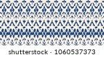 ikat seamless pattern. vector... | Shutterstock .eps vector #1060537373