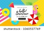 summer sale banner vector... | Shutterstock .eps vector #1060537769