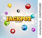 lottery jackpot bingo colorful... | Shutterstock .eps vector #1060542680