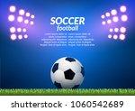 soccer football stadium... | Shutterstock .eps vector #1060542689
