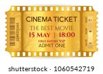 Cinema Ticket  Golden Ticket ...