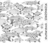 a flock of popular freshwater... | Shutterstock .eps vector #1060546016