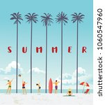 summer holiday poster. vector... | Shutterstock .eps vector #1060547960